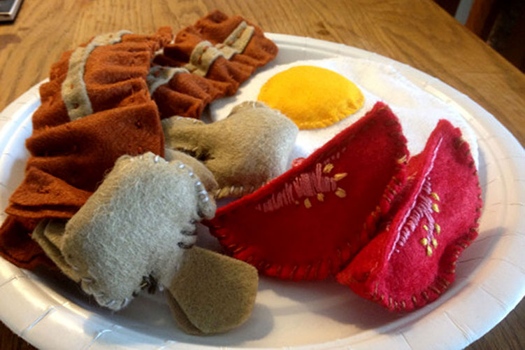 Things for little ones - Felt Fry Up